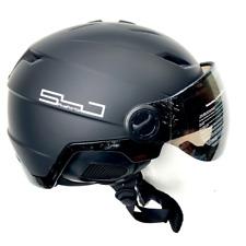 Snowjam Poseidon Ski Helmet Shiny Black with built-in Goggles 2019 Medium