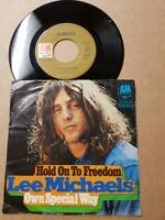 "Lee Michaels Hold On To Freedom Vinyl,7"",45 RPM,Single 1972-Sammlung Rock"