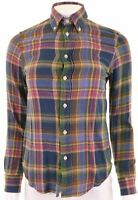 RALPH LAUREN Womens Shirt Size 6 XS Multicoloured Check Cotton Loose Fit  GY11