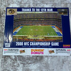 Vintage New York Giants Poster 2000 NFC Champ Game 12 Man Dunkin Donuts Coupon