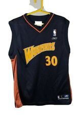 Rare Retro Steph Curry We Believe Golden State Warriors Jersey Kids Large Navy