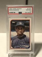 1989 Topps Traded Deion Sanders ROOKIE RC #110T PSA 10 GEM MINT YANKEES ⚾️📈🔥