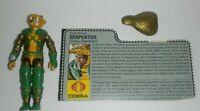 1986 GI Joe Cobra Emperor Serpentor v1 Figure w/ File Card & Hood *Not Complete