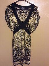 Angie Boho Style Dress Multi Colored Size L