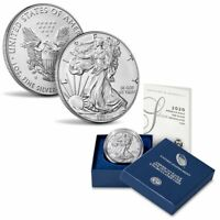 2020-W BURNISHED AMERICAN SILVER EAGLE UNCIRCULATED COIN | US MINT OGP 20EG