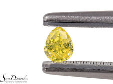 Fancy Intense Yellow Natural Color 0.22 ct Loose Diamond GIA certificate