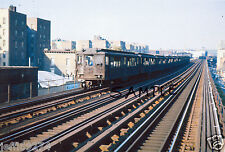 NYC BRONX #4 WOODLAWN JEROME IRT TRAIN from 183rd ST ELEVATED SUBWAY STA 1963