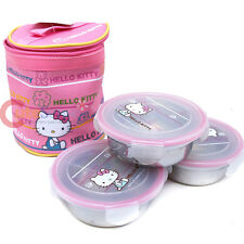 Sanrio Hello Kitty Lunch Box Picnic 7pc Set Bento Picnic Food Container