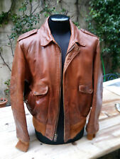 SCHOTT N.Y.C. A-2 VINTAGE ANNI 80 LEATHER JACKET PERFECT PATINA