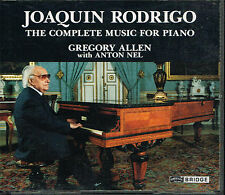 Coffret CD album: Joaquin Rodrigo: complete music for piano. bridge 2 CDs. E