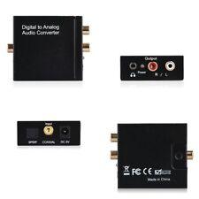 Digitale ad analogico Audio convertitore  Coax ottico Toslink RCA l/r adattatore