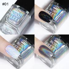 Shine Holographic Nail Stamping Polish Silver Special Nail Lacquer Salon Design