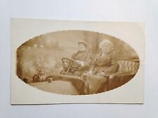 OVAL IMAGE  OLDER COUPLE REAL PHOTO POSTCARD RPPC