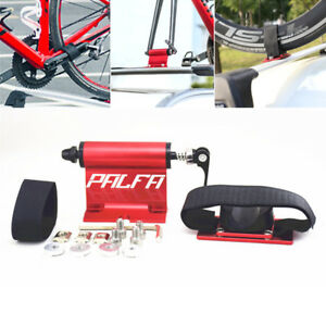 Red CNC Bike Fork Holder Bicycle Support Mount Car Roof Storage Rack Accessories