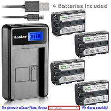 Kastar Battery LCD Charger for Sony NP-FM50 & Cyber-shot DSC-F828 DSC-R1 DSC-S30