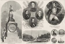 Commodore Oliver Perry Statue Commemoration Cleveland Ohio PUBLIC SQUARE 1860