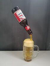 Frozen Moments Budweiser Bottle Pouring Into Glass Mug Frozen Food Art Sculpture