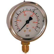 """WIKA Manómetros - 0-4bar 63mm diámetro Relleno 1/4"""" BSP Bott 4-00421"""