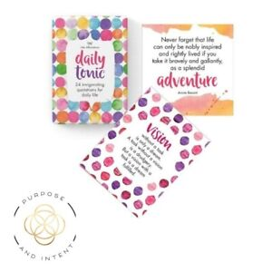 Daily Tonic Inspirational Affirmation Cards