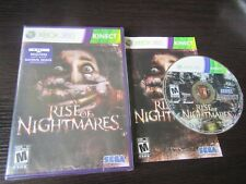 Microsoft Xbox 360:  Rise of Nightmares complete in case & tested Kinect game