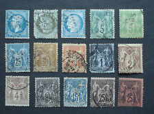 Frankreich/ France:Lot alte Werte/old stamps, ab 1853- ca.1938 -gest.- 4 Fotos!