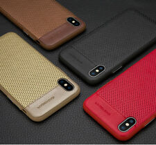 For iPhone Xs Max Case EASYBEAR PU Leather Knock Skin Slim XR Case Cover Luxury