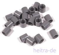 LEGO Technik - 20 x Pin Verbinder Hülse 1x1x1 dunkelgrau / 18654 NEUWARE