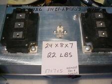 Powerex 600dy-12nf dual IGBT 600 volt 600 amps 2 modules on heatsink with fan