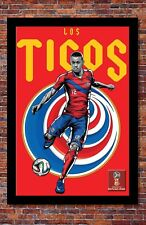 """2018 World Cup Soccer Russia   TEAM COSTA RICA Poster   13"""" x 19"""""""
