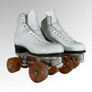 Vintage Riedell Roller Skates Silver Star Boots Snyder Super Deluxe Womens 4 B