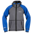 Stormr Men's Neoprene Waterproof Windproof Typhoon Jacket, Color: Blue/Smoke