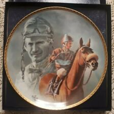 Bill Willie Shoemaker HAND SIGNED 1991 FRED STONE PLATE AUTOGRAPHED John Henry