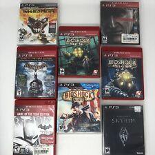 Lot Of 8 PS3 Games Skyrim BatMan Twisted Metal Bioshock Metal Gear Solid 4