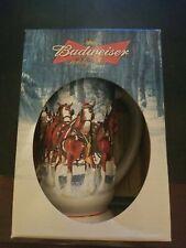 "2007 Budweiser Holiday Stein Ceramic ""Winter's Calm"" Anheuser-Busch Clydesdales"