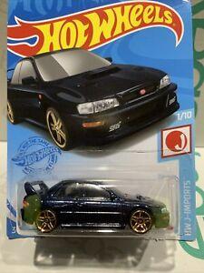 Hot Wheels '98 Subaru Impreza 22B STI Version Dark Metallic Blue HTF SEALED