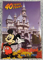 Disney Pinback Button Disneyland Cast Member We Are 40 Today July 17 1995