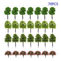70x Model Trees Garden Wargame Train Railway Architectural Scenery Layout 3-9cm