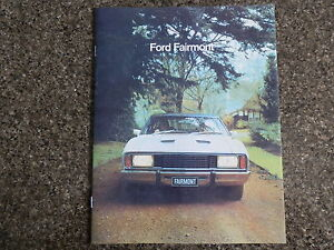 FORD XC  FAIRMONT AND GXL BROCHURE.