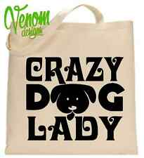 CRAZY DOG LADY TOTE SHOPPING BAG letters stars fun Christmas gift women clothing