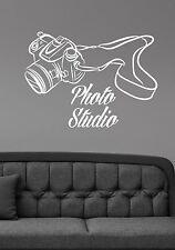 Photo Studio Logo Wall Decal Camera Vinyl Window Sticker Art Salon Decor pst1