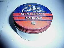 Vintage 1950s Cadillac Blue Coral Sealer Jar