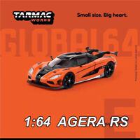 Tarmac Works TW 1:64 Koenigsegg AGERA RS Orange Die Cast Car Model Collection