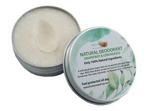 100% Natural Deodorant Grapefruit & Lemongrass, 1 Tub Of 70g
