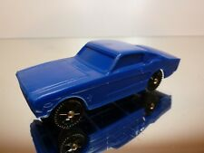 NP GERMANY PLASTIC VINYL FORD MUSTANG  - BLUE1:43 - GOOD CONDITION - NO TOMTE