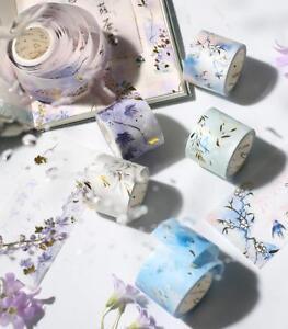 1X Floating Shadow Plant Washi Bronzing Masking tape Decoration Stationery 3CM