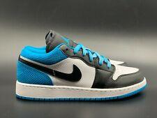 Jordan 1 Low SE Black/Black/Laser Blue/White Size 4-7(GS) (CT1564-004)
