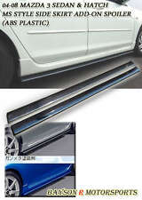 04-09 Mazda 3 4/5dr Aero Side Sills Skirts (ABS)