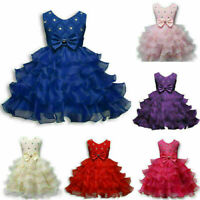 Flower Girl Princess Dress Baby Kid Party Wedding Formal Knee-Length Tutu Dress