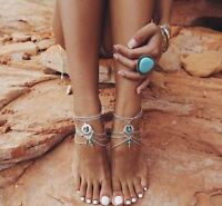 Women Ankle Chain Anklet Bracelet Barefoot Sandal Beach Foot Jewelry