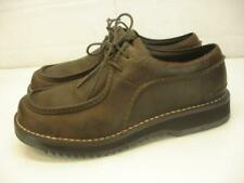 Men's 13 M Simple Brown Leather Shoes Oxfords Lace-Up Moc-Toe Casual Comfortable